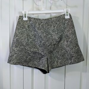 Love 21 metallic high waist shorts